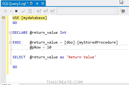 Debug Stored Procedure