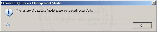 SQL Server  2005 Restore/Import