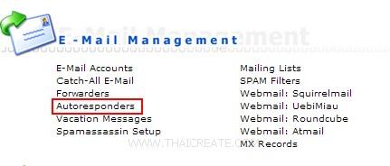 Direct Admin : Autoresponders