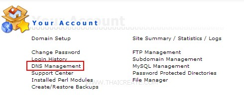 Direct Admin : DNS Management