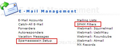 Direct Admin : SPAM Filters / Spamassassin Setup