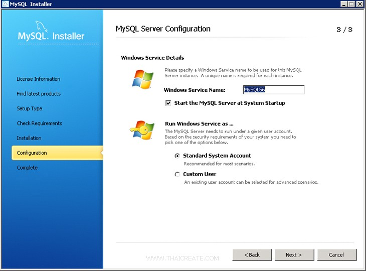 Windows Server 2008 MySQL Database