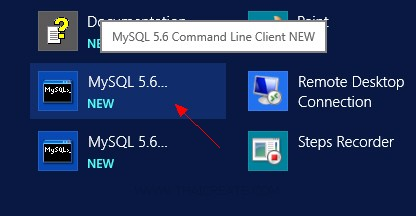 Windows Server 2012 MySQL Database