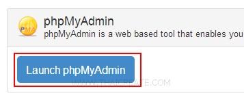 Zpanel MySQL phpMyAdmin