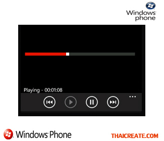 Windows Phone Slider Progress and Media Player
