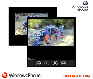 Windows Phone Play Media Player (VDO,MP3)