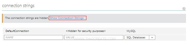 Windows Azure Web Sites MySQL