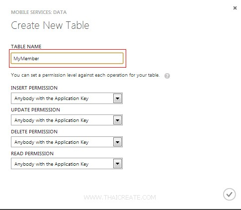 Android Azure Mobile Services Table Insert