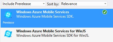 CreateWindows Phone(WP) Mobile Services Visual Studio