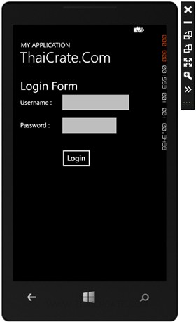 Windows Phone  Login User Password