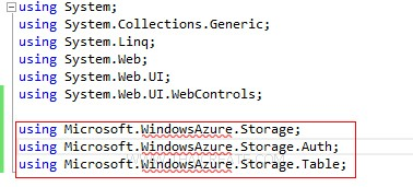 Visual Studio Azure Storage