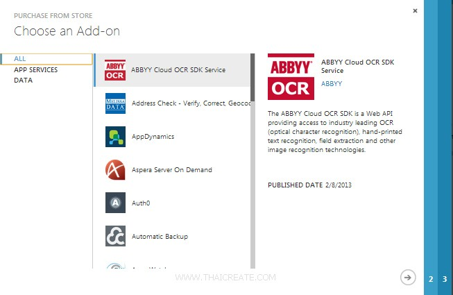 Windows Azure Service Add-on