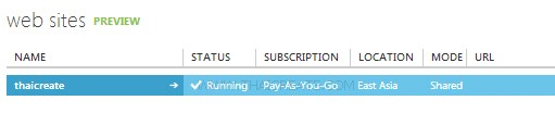 Windows Azure Create