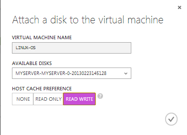 Attach Disk Linux OS Virtual Machine