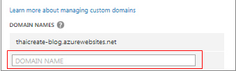 Windows Azure Web Site Custom Domain
