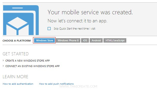 Azure Mobile Services Windows Store App