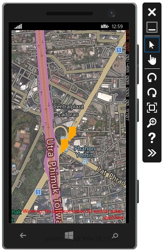 Windows Phone and Bing Map Marking Location