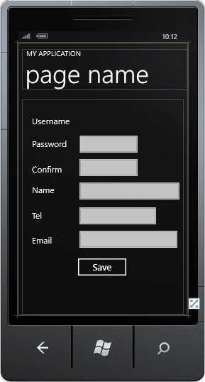 Windows Phone Login Username and Password