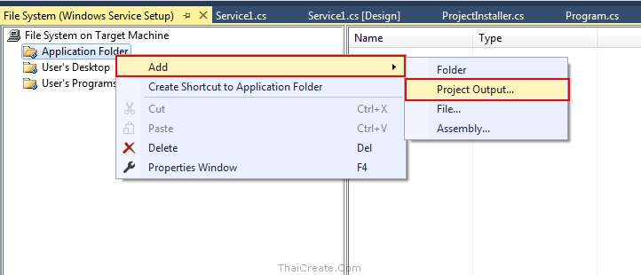 Windows Service Setup Project