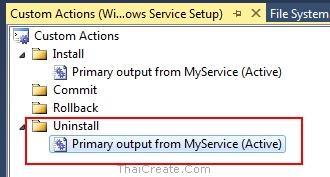 Windows Service Setup Project