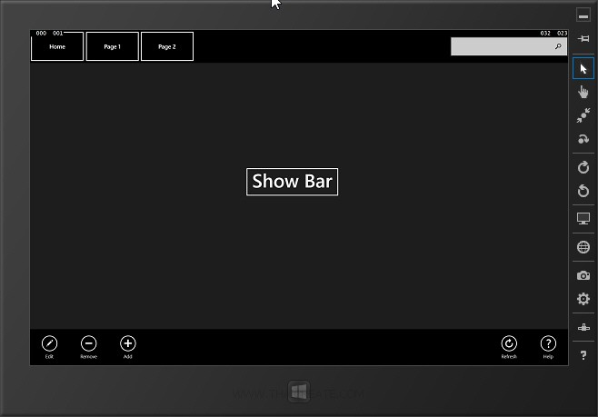 Windows Store Apps App Bar : TopAppBar  / BottomAppBar