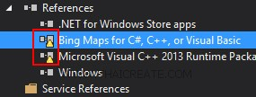 Windows Store Apps and Bing Map SDK (C#)
