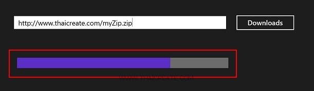 Windows Store App and Downloading & Progress Bar (C#)