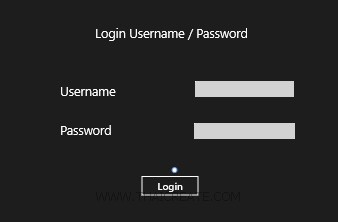 Windows Store App and Login Form (Web Services) - C#