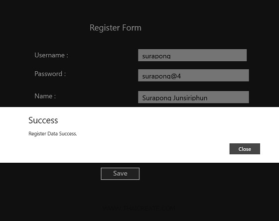 Windows Store App and Register Data (Web Services) - C#