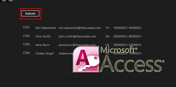 Windows Store Apps and MS Access Database (C#)