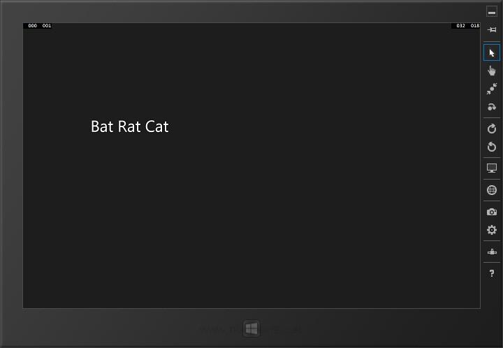 Windows Store App Parameters Page
