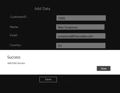 Windows Store Apps and SQL Server Database Part 2 (C#)