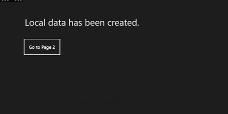Windows Store Apps Local app data